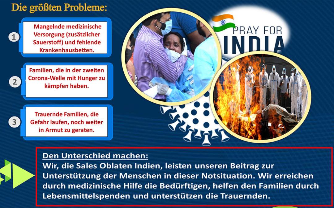 Spendenaktion für Indien